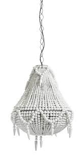 and pearl chandelier white wooden pearl chandelier large by nordal bell and blue