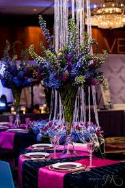 Blue Wedding Centerpieces by Cloud 9 Our Tall Vibrant Blue And Purple Tall Wedding