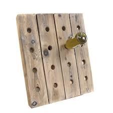 french style reclaimed wood 16 bottle wine rack holder free