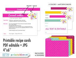 printable recipe cards 4 x 6 printable recipe cards pdf editable text jpg 4x6 with 4