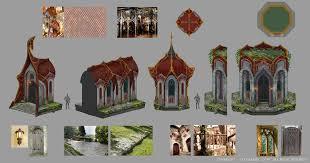 fair elven architecture artstation cabal online concept art