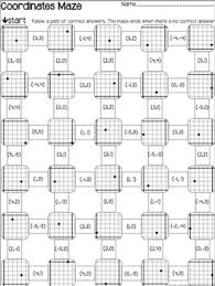 graph mazes 3 worksheets coordinates slope u0026 equations by