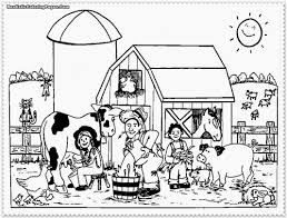 farm animals coloring page free download