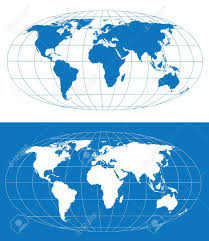 World Map Hemispheres by Vector World Map With Grid Separate Layers Royalty Free Cliparts