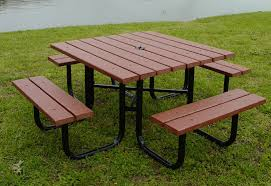 resin patio table with umbrella hole furniture resin picnic table costco tables home depot kit folding
