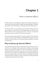 surviving wocs a guide to applying for the warrant officer