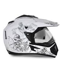 vega motocross helmet vega helmet off road sketched white base with silver graphics