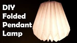 Diy L Shade L Diy Make Folded Paper Pendant L Shade L Rice Shades