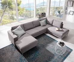 delife designer wohnlandschaft silas 300x200 grau ottomane rechts - Sofa Mit Ottomane