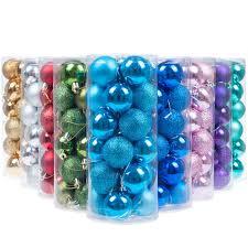 amazon com ki store 24 pcs shatterproof christmas balls tree