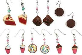sweet earrings for foodies baking bites