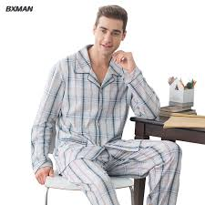 bxman brand pajamas sets pajamas 95 cotton plaid turn