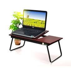 Bed Desk Laptop Eeezygo Folding Laptop Bed Desk Multipurpose Workstation Walnut