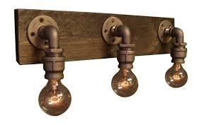 Industrial Looking Lighting Fixtures Industrial Style Bathroom Lighting Look Vanity Ceiling Wall Lights