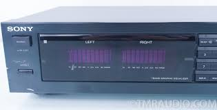 home theater equalizer sony seq 711 7 band stereo graphic equalizer eq with original