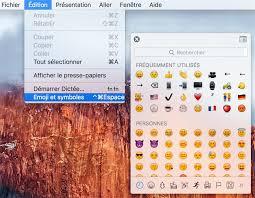 raccourci bureau mac astuce un raccourci pour afficher les emojis sur os x macgeneration