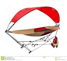 portable hammock with shade stock images image 14081344