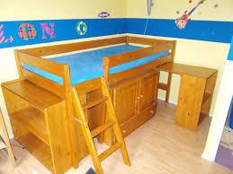 lit avec bureau coulissant achetez lit mezzanine 90x190 occasion annonce vente à pessac 33
