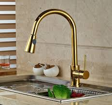 kitchen sink and faucet deck mounted gold finish kitchen sink faucet