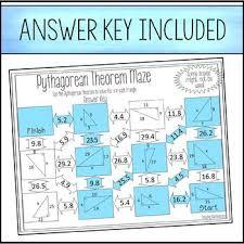 pythagorean theorem maze by amazing mathematics tpt