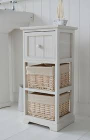 Tall Narrow Bathroom Cabinet by Tall Narrow 20 Cm Bathroom Freestanding Cabinet With Baskets And