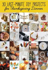 30 last minute diy craft projects for thanksgiving dinner