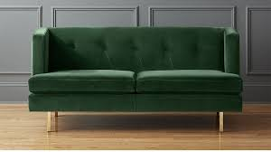 avec green velvet apartment sofa cb2