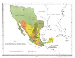 Mexico Political Map by Colonial Mexico 1519 1821 Mexicanhistory Org Mexican History