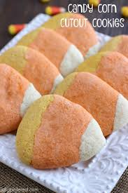 Halloween Cut Out Sugar Cookies by Candy Corn Cutout Cookies I Dig Pinterest