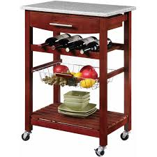 kitchen island cart with granite top multiple colors walmart com