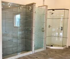 frameless and framed shower enclosures charlottesville glass and the customizable nature of the extrusions the angled parts of the frame allows the tub enclosure to work with even the most non standard tub and shower