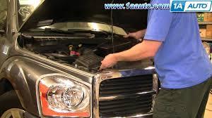 dodge durango fuel filter how to install replace engine air filter dodge durango 04 09