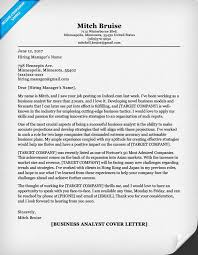 business analyst cover letter sample resume companion