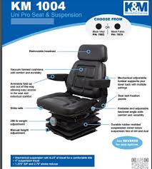 amazon com km 1004 uni pro seat and suspension seat construction