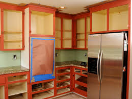 Vintage Metal Kitchen Cabinet Enamel Painted Home by How To Paint Kitchen Cabinets In A Two Tone Finish How Tos Diy