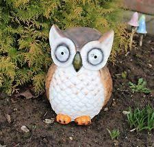 ceramic porcelain owl garden ornaments ebay
