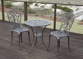 Aluminum Patio Furniture Set by Amazon Com Patio Sense Faustina Antique Bronze 3 Piece Bistro Set