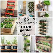 Herb Garden Idea Simple Indoor Herb Garden At Garden On Home Design Ideas With Hd