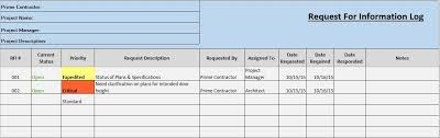 Change Order Template Excel Free Construction Project Management Templates In Excel