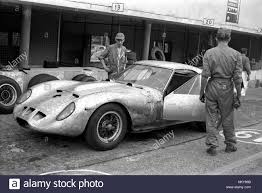 ferrari prototype 1961 ferrari 250gto prototype test pits monza fl stock photo