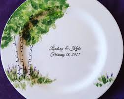 wedding platter guest book wedding guest book alternative guest book plate signature
