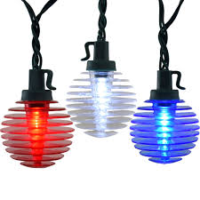 patriotic led globe string lights white blue shimmer globe