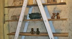 31 Md 00510 Ladder Shelves by 31 Wooden Ladder Shelves The Old Wooden Step Ladder Takes On