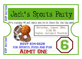 personalized sports invitations football basketball soccer