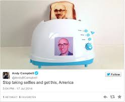 Toaster Face You Can Now Buy A Toaster That Burns Your Selfie Onto Bread