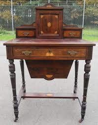 Ladies Secretary Desk Edwardian Inlaid Rosewood Ladies Writing Desk 258917