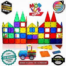 amazon com magnetic building blocks 100 10 extra magnetic tiles