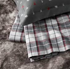 cfire flannel lodge plaid flannel bedding collection