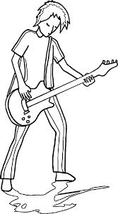 guitarist playing guitar coloring wecoloringpage
