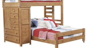 Kid Loft Beds Creekside Taffy Twin Full Student Loft Bed With Chest Bunk Loft